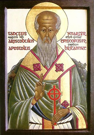 Celtic Christianity - Modern icon of Aristobulus of Britannia
