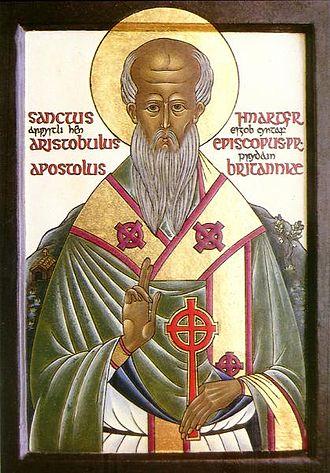 Celtic Christianity - Modern icon of Aristobulus of Britannia