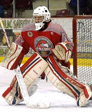 St. Catharines Falcons (1968–) - Falcons goalie 2014 playoffs.