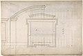 St. Peter's, apse, window, elevation (recto) Unidentified, portal, elevation (verso) MET DP810520.jpg