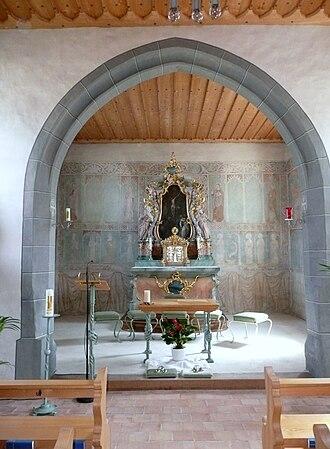 Uesslingen-Buch - Image: St. Sebastianskapelle Altar