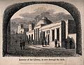 St Bartholomew's Hospital, London; the library viewed throug Wellcome V0013015.jpg