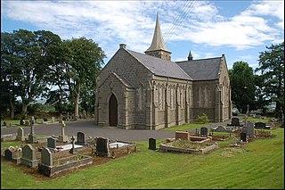 Ballycarry village in County Antrim, Northern Ireland