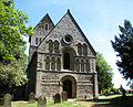 St Lawrence's church in Castle Rising - Norman west facade.jpg