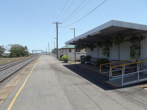 St Lawrence railway station, Queensland - Northbound view in January 2013