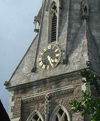 St Mary's Church, Selly Oak - Clock on the steeple
