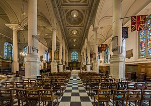 St Sepulchre-without-Newgate - The interior of St Sepulchre