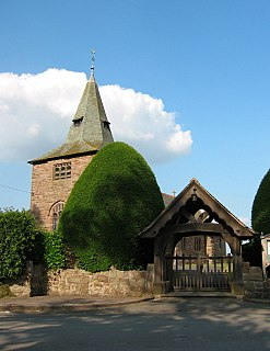 St Wenefredes Church, Bickley Church in Cheshire, England