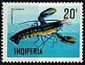 Stamp of Albania - 1968 - Colnect 254256 - European Lobster Homarus gammarus.jpeg