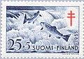 Stamp of Finland - 1955 - Colnect 46209 - Atlantic Salmon Salmo salar.jpeg