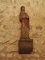 Statue d'une sainte femme du XVIIe siècle - église Notre-Dame-sur-l'eau de Domfront - 1.JPG