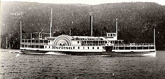 Lake George (New York) - Steamboat Horicon on Lake George, 1900