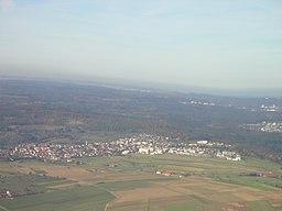 Anflug auf den Flughafen Stuttgart
