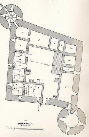 Steinvikholm Castle - First story floor plan of the Steinvikholmen