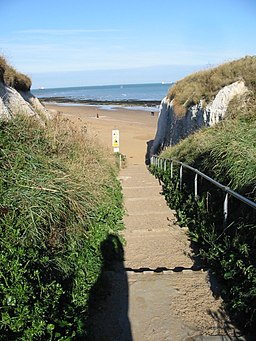 Steps to the beach, Botany Bay - geograph.org.uk - 1031602