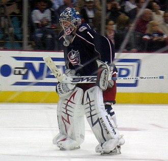 Steve Mason (ice hockey) - Mason in 2009 with the Blue Jackets