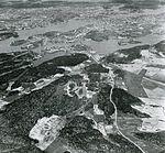 Stockholm fra sydvest fra 1000 meters forhøjet i året 1898