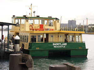 State Transit Authority - MV Shortland operating the Newcastle-Stockton ferry service in July 2006
