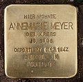 Stolperstein Bamberger Str 37 (Schön) Annemarie Meyer.jpg
