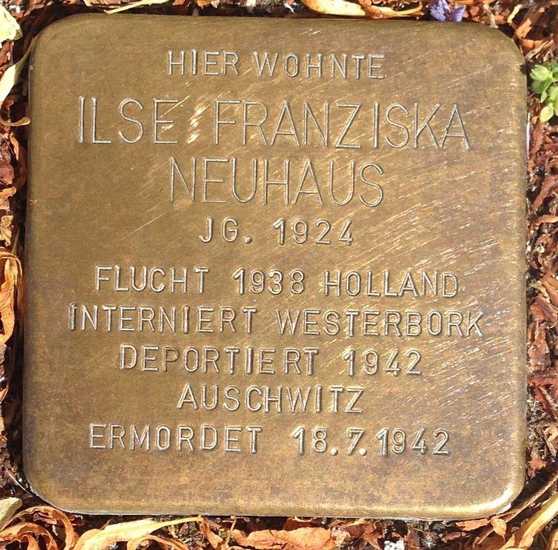 Stolperstein Hadamar Neumarkt 17 Ilse Franziska Neuhaus