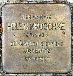 Photo of Helene Windmüller brass plaque
