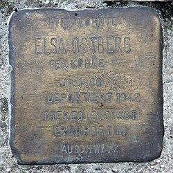 Photo of Elsa Ostberg brass plaque