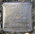 Stolperstein Kreuzritterstr 12a (Frohn) Artur Israel.jpg