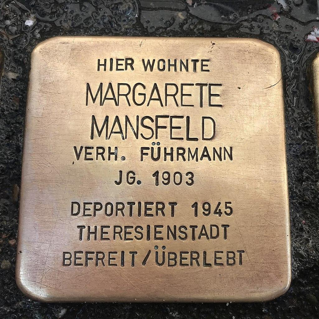Stolperstein Margarete Mansfeld in Lüchow (Wendland).jpg