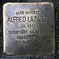 Stolperstein Sanderstr 14 (Neukö) Alfred Lazarus.jpg