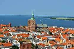 Old town of Stralsund as seen from St. Mary's church