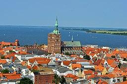 Stralsund har set fra Mariakyrkans tårn