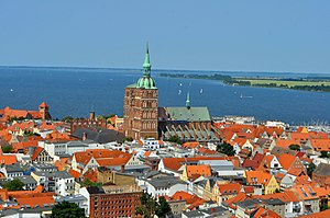 Stralsund - Old town of Stralsund as seen from St. Mary's church