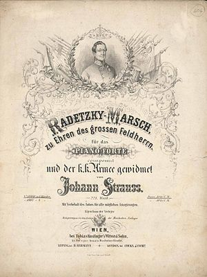 Radetzky March - Cover sheet, 1848