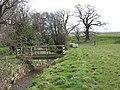 Stream and footbridge - geograph.org.uk - 746761.jpg