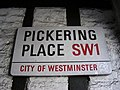 Street sign Pickering Place - geograph.org.uk - 1375719.jpg
