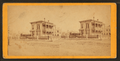 Street view of a home, horse and a man standing on the corner, by Blessing & Bro..png