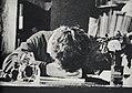 Strindberg, August - Strindberg ist an seinem Schreibtisch eingeschlafen (Zeno Fotografie).jpg