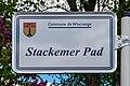 Stroosseschëld Stackemer Pad, Deewelt.jpg