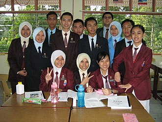 SMS Sabah - Image: Students of 5 Beta
