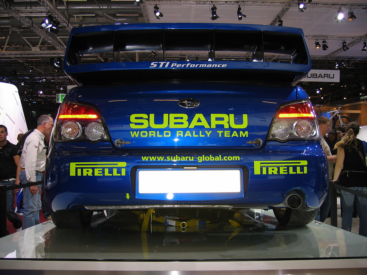 File Subaru Wrx Sti Rally Car At The 2006 Paris Auto Show 2 Jpg