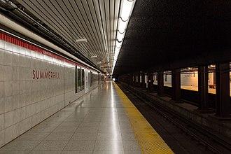 Summerhill station - Image: Summerhill Platform 01