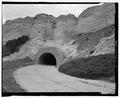 Summit Road, lower tunnel, lower entrance. View SW. - Scotts Bluff Summit Road, Gering, Scotts Bluff County, NE HAER NE-11-11.tif