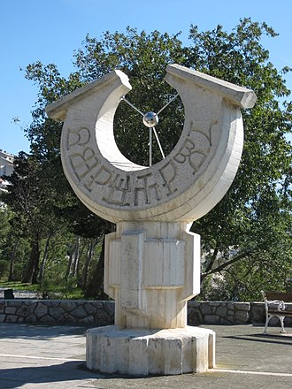 45th parallel north - Sundial at the 45th parallel in Senj, Croatia.
