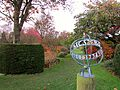 Sundial and Autumn trees - Falkland Palace and Garden, Falkland, Fife, Scotland (16186745105).jpg