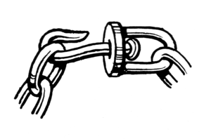 Swivel - A swivel in a chain link