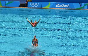 Synchronized swimming at the 2016 Summer Olympics -Presentation of the Brazilian team 01.jpg