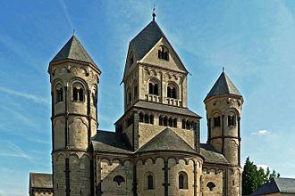 Maria Laach Abbey - Image: Türme des Westbaus Maria Laach