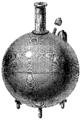 T3- d383 - Fig. 255. — Bombe sphérique en deux parties et renforcée.png