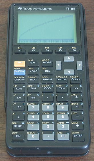 TI-85 - Image: TI85 graphing calculator