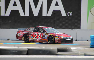 Dr Pepper - The No. 23 Dr Pepper-sponsored Toyota Camry driven by J. J. Yeley of the NASCAR Sprint Cup Series in 2015
